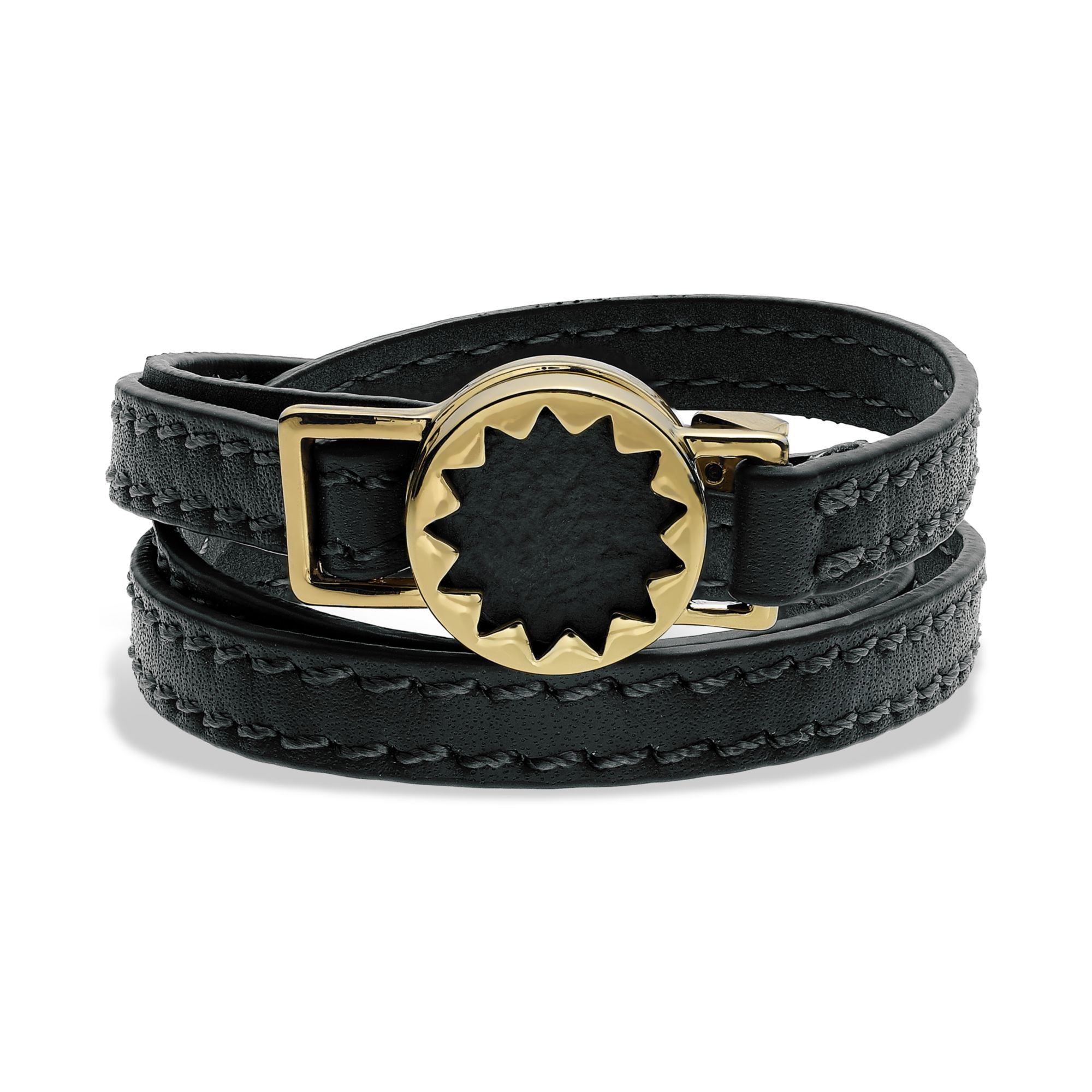 House of Harlow Gold tone Sunburst black wrap bracelet