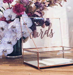 Rose Gold & Glass Wishing Well • SECONDS • FEW LEFT