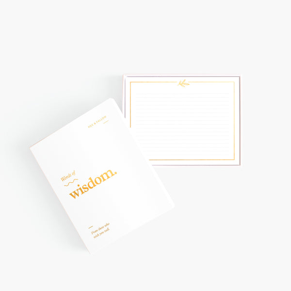 Words of wisdom blank note - Card set