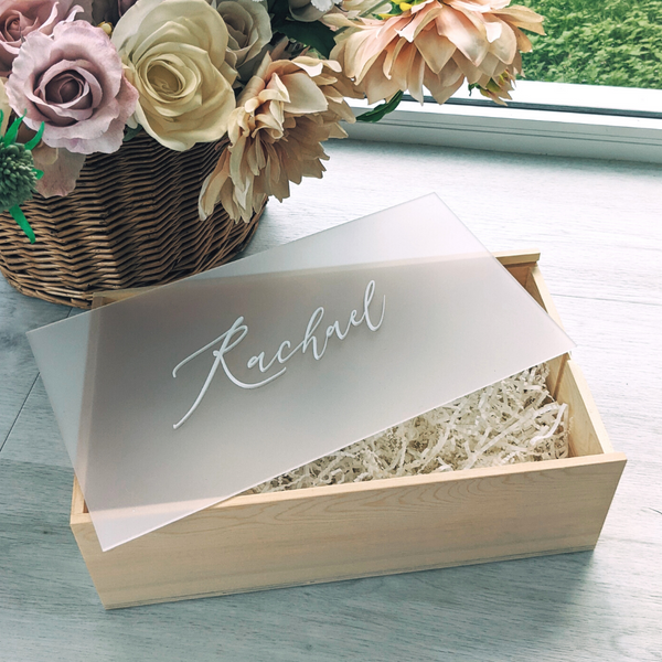 Large bridesmaid gift box frosted