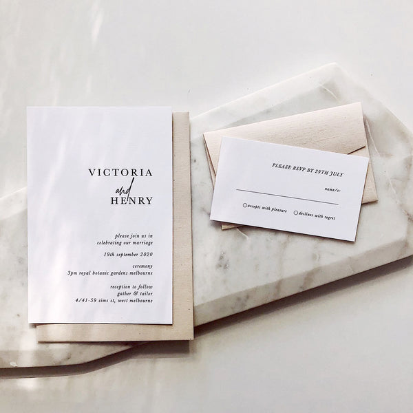 Victoria Wedding Invitation Set