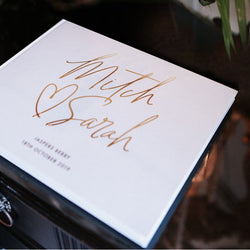 Custom Cover with Faux Gold Guest Book