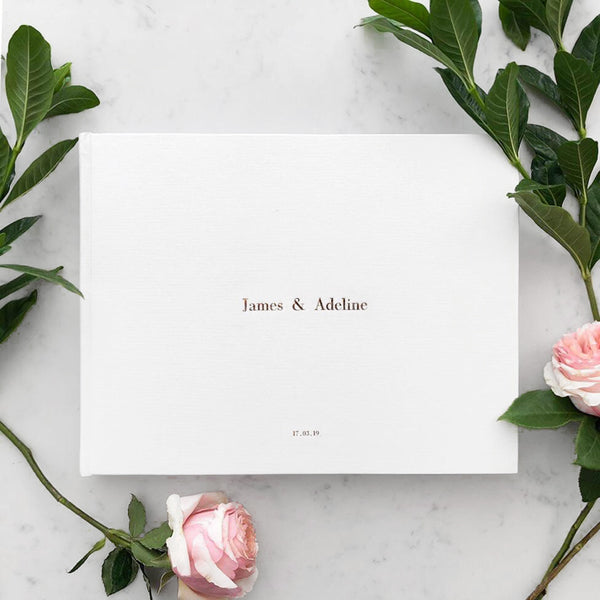 Personalised Foil Guest Book