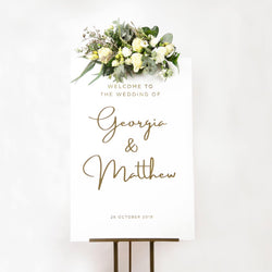 Luxe Welcome Sign (2 sizes)