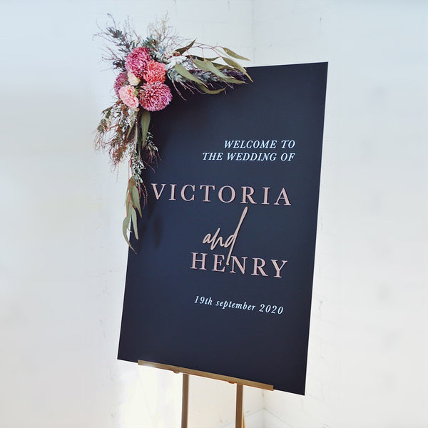Victoria Welcome Sign