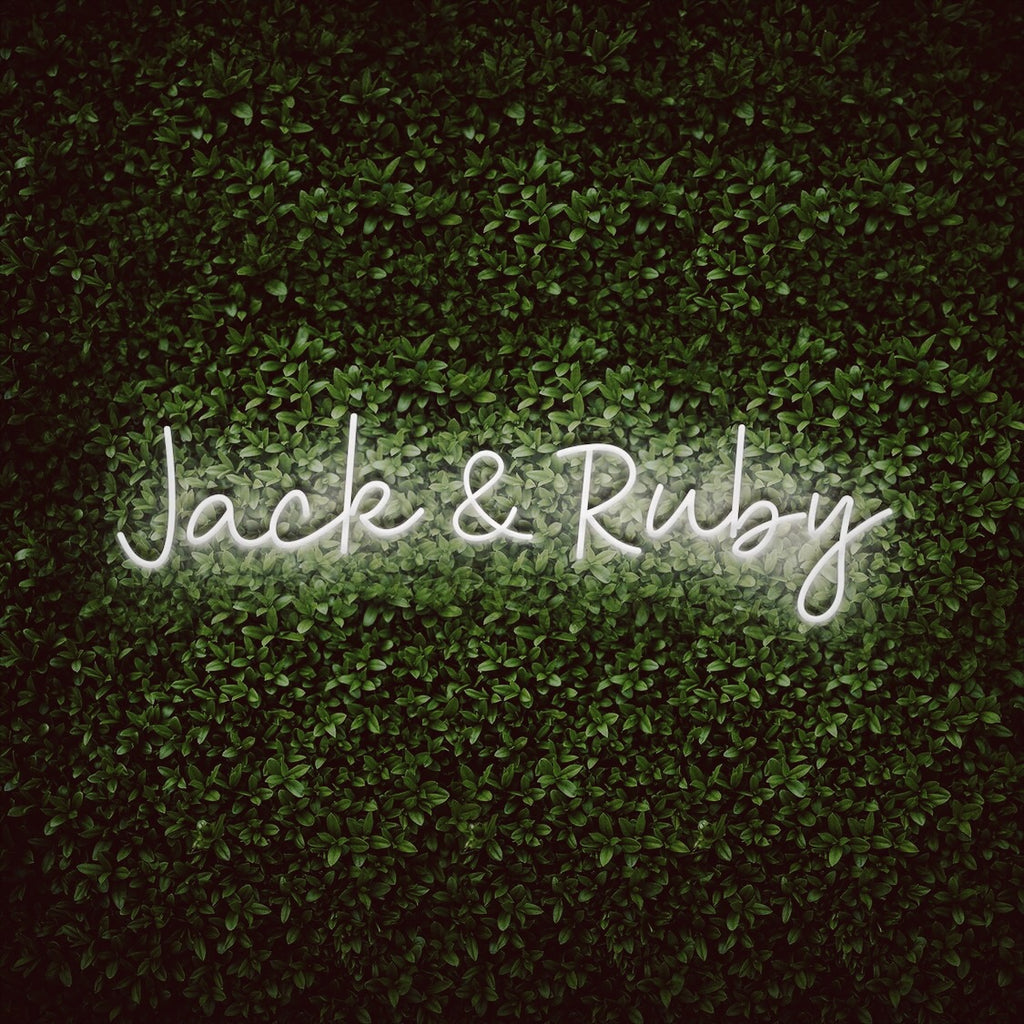 Couples names wedding neon sign