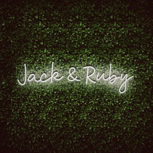 Custom Couple Names Neon Sign