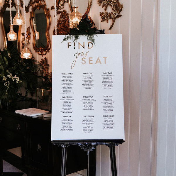 Luxe Seating Chart