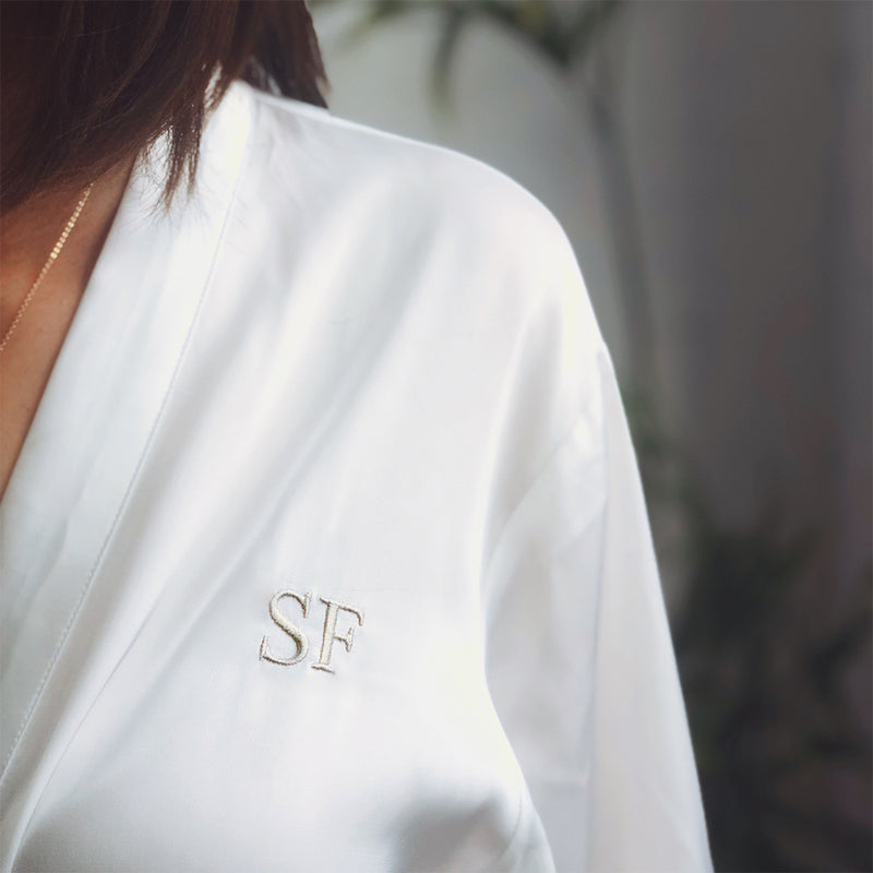 Bridal Party Robe in Oyster