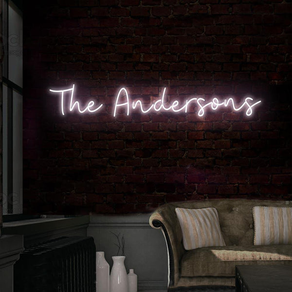 What Do You Get Your Bride For A Wedding Gift: Custom Surname Neon Sign