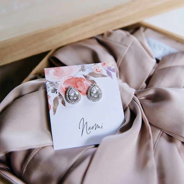 Tear Drop Bridesmaid Earrings