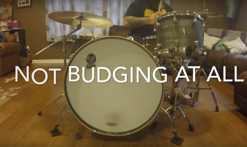 Watch this GIANT kick drum in action