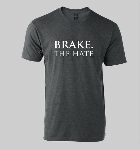 "#KBrakes ""Brake The Hate"" Soft Tee Shirt (Heather Charcoal)"