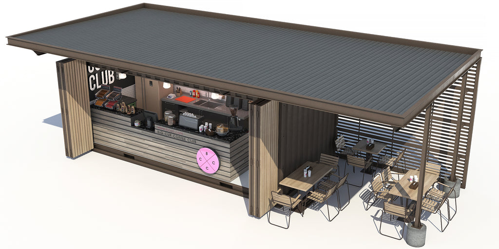 Container Cafe Render
