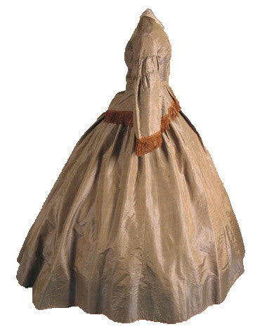 Museum Deaccessioned Silk Faille Day Dress, 1850s.
