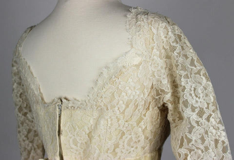Saks Fifth Avenue Ivory Lace Wedding Gown from the 1950's