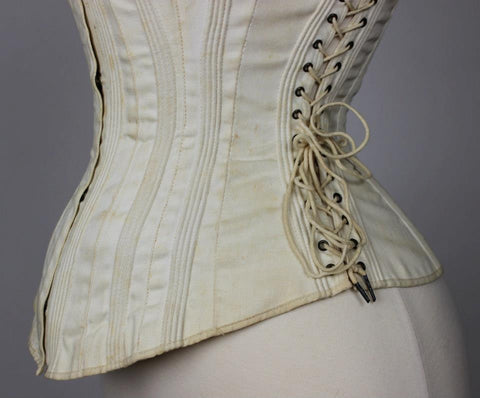 Comfort Corset, Side Lacing, Maternity, Sports or Riding Corset 1875-1885