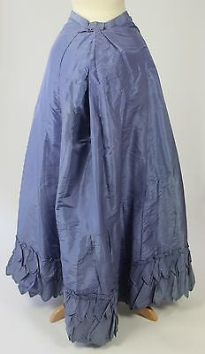 Vibrant Purple Silk Taffeta Skirt with Matching Fichu from the late 19th Century