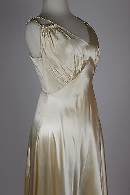 Rare Ivory Silk Wedding Gown with Lovely Long Train Overdress in Silk and Lace