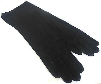 Vintage Pair of Women's Black Soft Suede Gloves Size 6