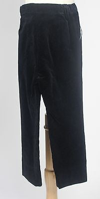 Lovely Antique Boy's or Doll's Tuxedo Pants in Black Velvet