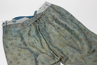 Gentlemen's Blue and Gold Floral Reproduction Metallic Brocade Breeches