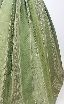 MET Museum Deaccession Green Floral Brocade Skirt from the Mid 19th Century