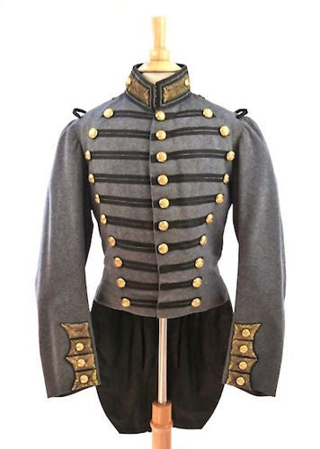 Antique American Military Uniform: Civil War Era 7th Regiment New York National Guard Coat 1850's Scovill Buttons
