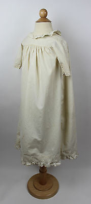 Antique White Cotton Child's Gown