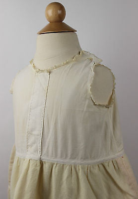 Antique Ivory Cotton and Wool Child's Dress