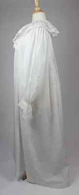 Lovely Antique White Cotton Nightgown with Lace Trim