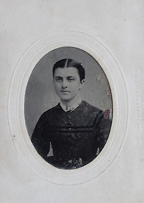 Original Antique Tintype Portrait of a Woman from the Mid 19th Century