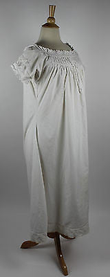 Antique Women's White Cotton Maternity Nursing Chemise