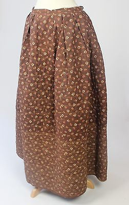 Antique Reversible Calico Print Cotton Quilted Petticoat from the 19th Century