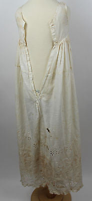 Antique White Cotton Child's Christening Gown