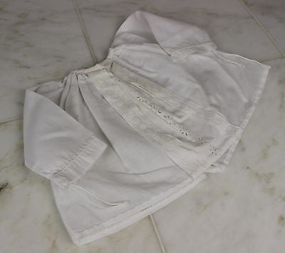 Vintage Antique White Cotton Baby's Dress or Doll's Dress