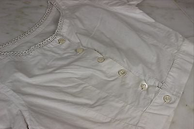 Lovely Antique Corset Cover Camisole in White Cotton from the 1850's to 60's