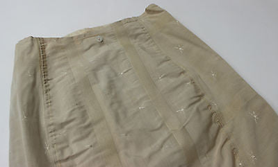 Vintage Women's Taupe Corset Girdle with Decorative Star Pattern