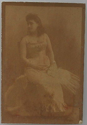 Antique Photographic Image, Portrait of a Woman in a Corset, Early 20th Century