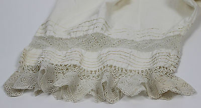 Antique Women's White Cotton Pantalettes from the 19th Century