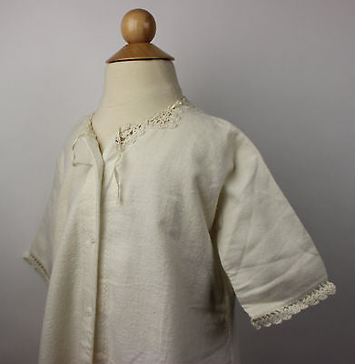 Antique White Flannel Child's Dress