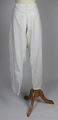Gentlemen's White Cotton Striped Pantaloons