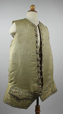 Gentlemen's 18th Century Waistcoat with Floral Embroidery