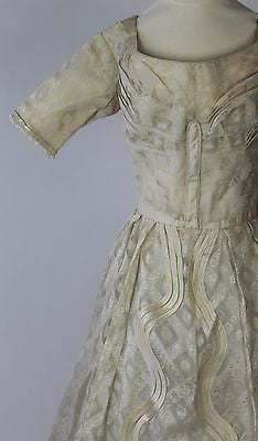 Wonderful Cream Silk and Cotton Evening Dress c. 1825