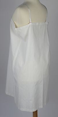 Lovely Antique White Cotton Nightgown with Yellow Embroidery c. 1920