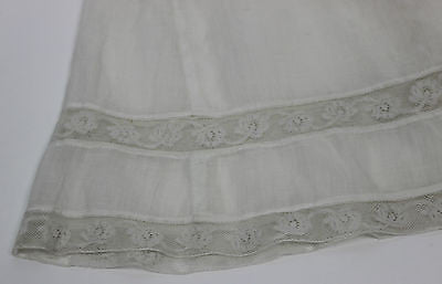 Antique White Cotton Child's Petticoat