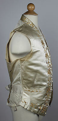 Gentlemen's Silk Wedding Waistcoat with Wonderful Embroidery 1840 to 1850