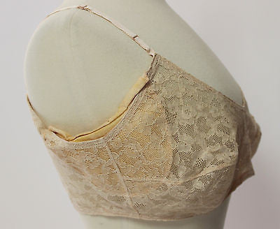 Vintage Women's Pink Lace Kleinerts Bra Form with Underarm Shield
