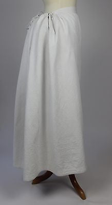 Lovely Antique White Quilted Bustle Petticoat from the 1880's
