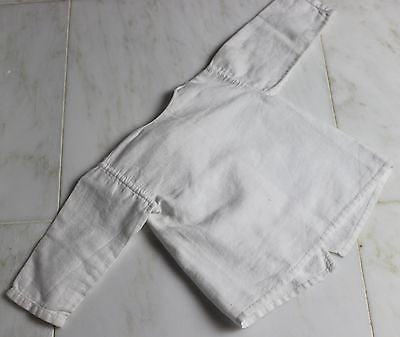 Vintage Antique White Cotton Baby's Jacket or Doll's Jacket